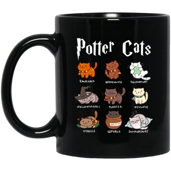 Harry Potter Cats Hairy Pawtter Coffee Mug