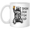 A Woman Cannot Survive On Books Alone She Also Nees A Cat White Mug