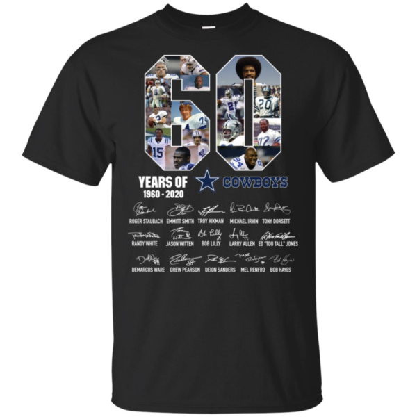60 Years Of Cowboys 1960 2020 Thank You For The Memories T Shirt, Long Sleeve