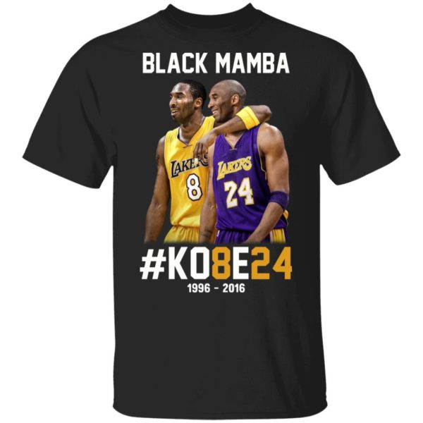 Kobe Bryant 8 24 Black Mamba Shirt