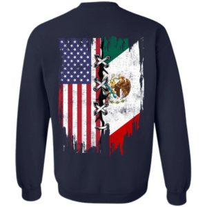 Mexican and American Suture Flag Shirt