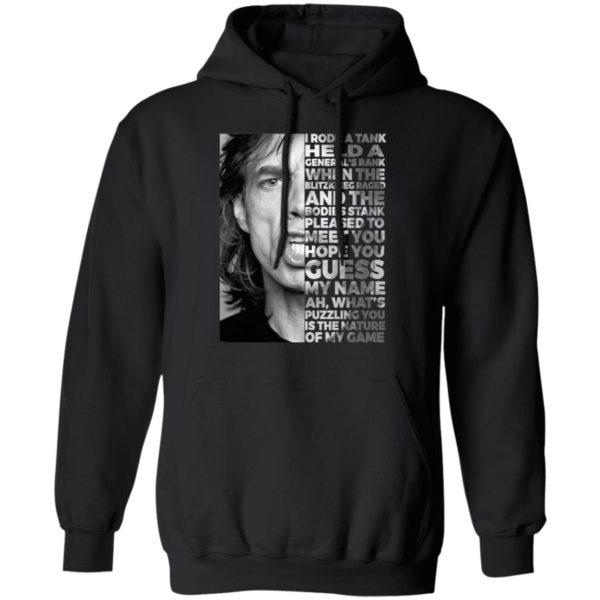 Mick Jagger I Rode A Tank Held A General's Rank Shirt