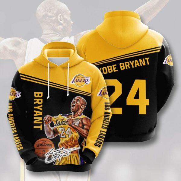 Kobe Bryant 24 Los Angeles Lakers 3D Hoodie