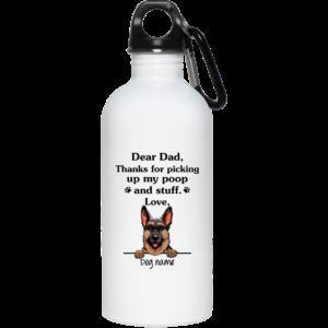 German Shepherd personalized   Thanks for picking up my poop and stuff custom name mug