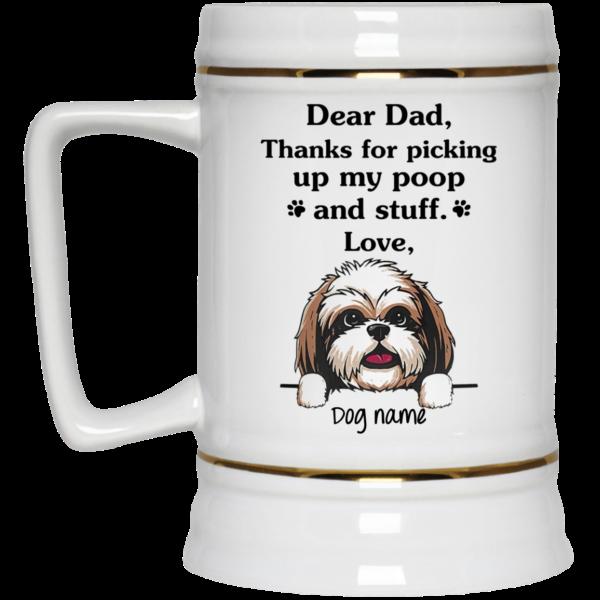 Shih Tzu Personalized Thanks for picking up my poop and stuff custom name mug