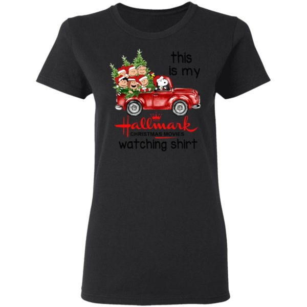 Snoopy This Is My Hallmark Christmas Movies Watching Shirt