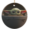 Baby Yoda Ceramic Circle Ornament