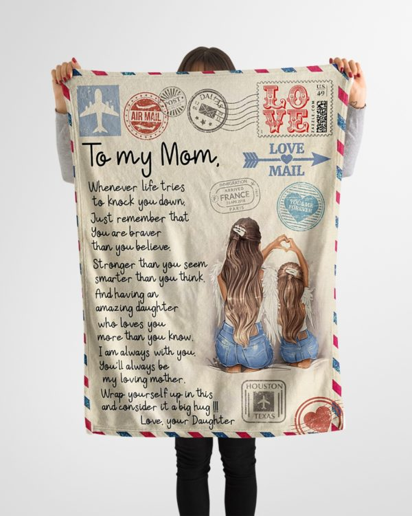 To My Mom Love Mail Blanket