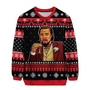 Laughing Leo – Leonardo Dicaprio 3D All Over Print Christmas Sweater