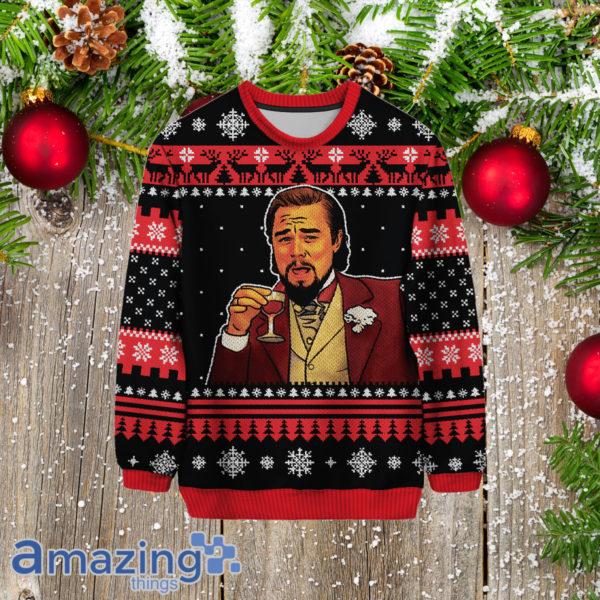 Laughing Leo Leonardo Dicaprio 3D All Over Print Christmas Sweater
