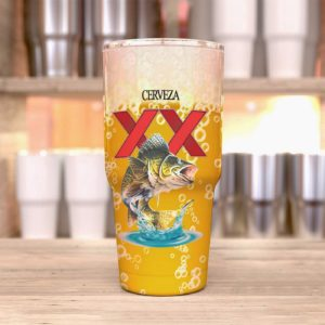 Fishing I Just Want To Drink Dos Equis And Jerk My Rod Customized Tumbler Cup